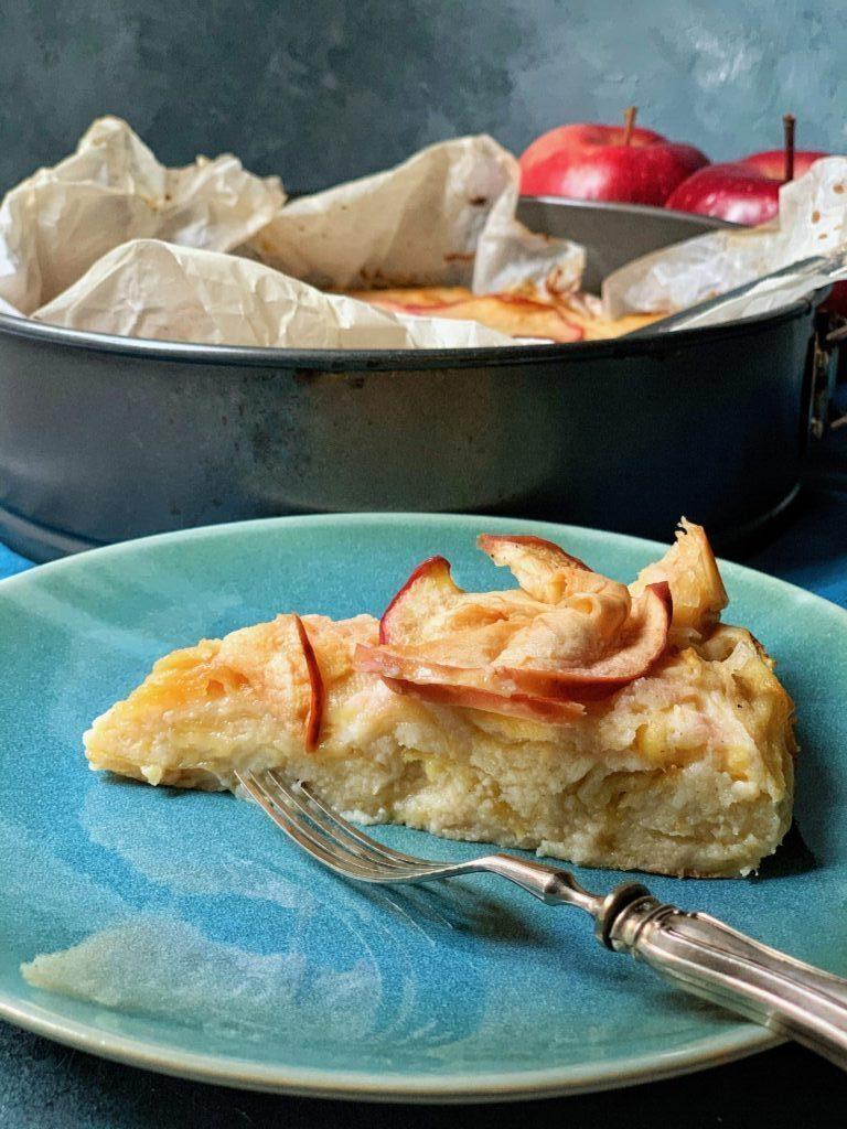 Fetta di torta di mele al bergamotto a basso indice glicemico
